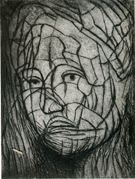 Head of Girl – Section Line by Sir Henry Moore CH, OM (1898-1986)