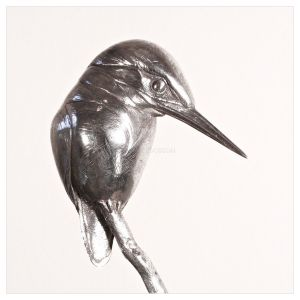 Silver Kingfisher on Stick