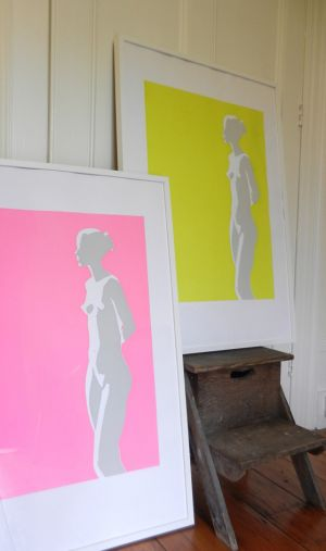Neon Nudes in Pink and Green
